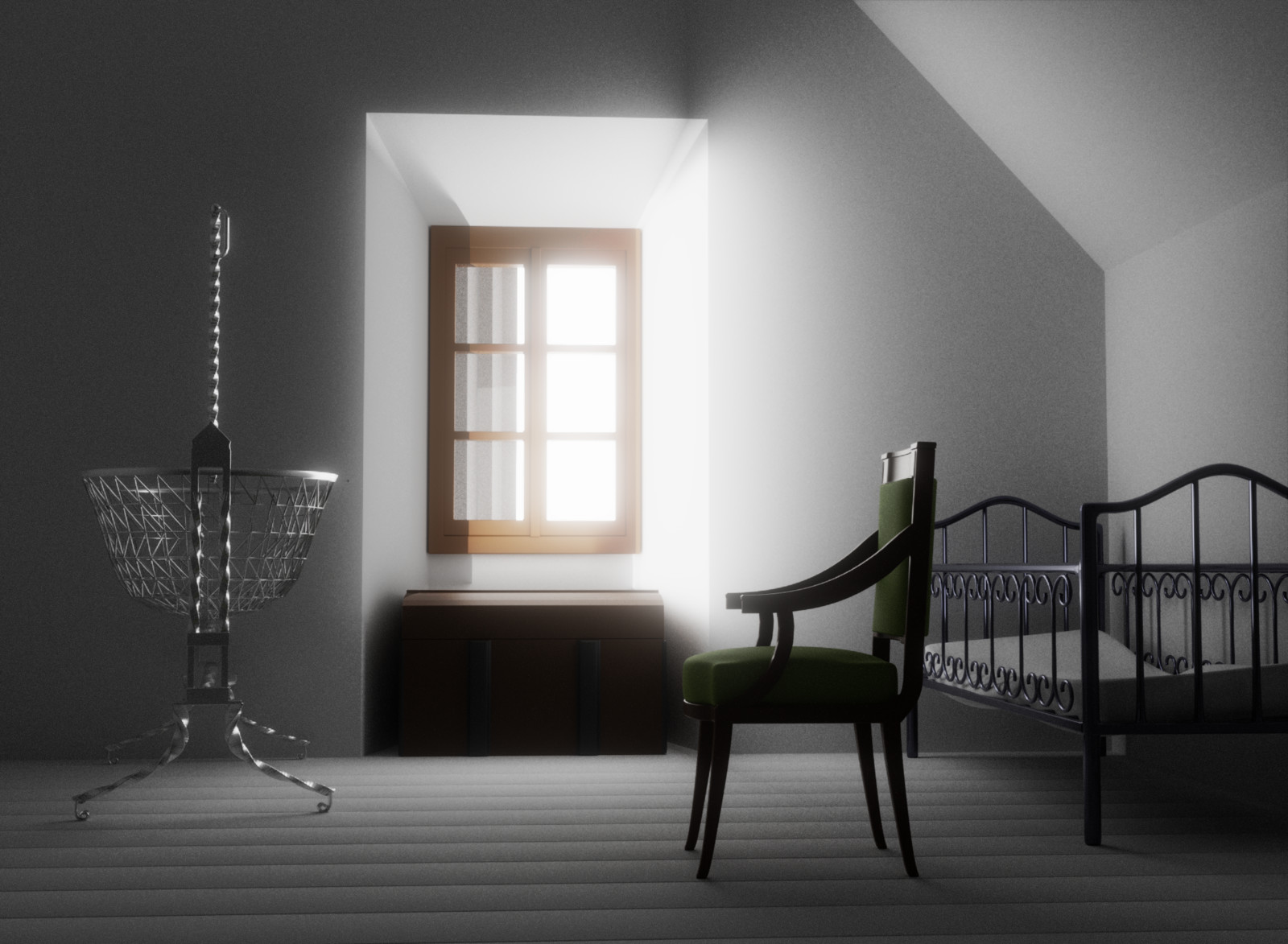 First render when basic things was modeled
