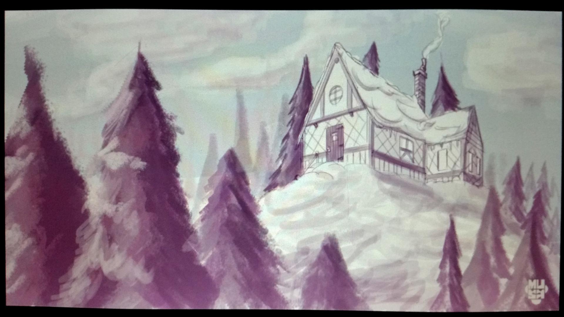 Mariano musante cabana bosque nieve