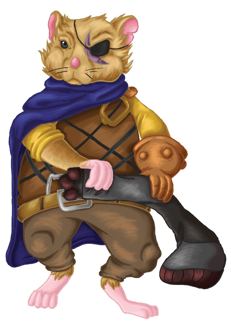 Bo the Warrior Hamster Card Art