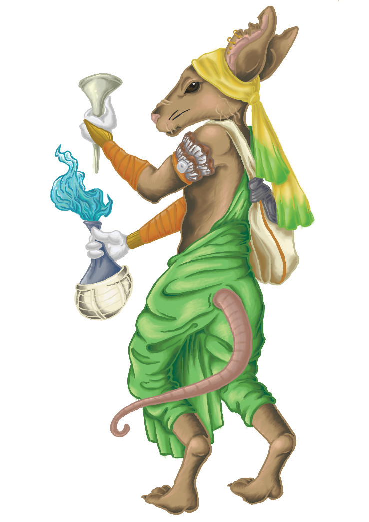 Bibatia the Alchemist Mouse Card Art