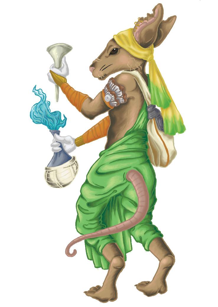 Bibatia the Alchemist Mouse Card Art
