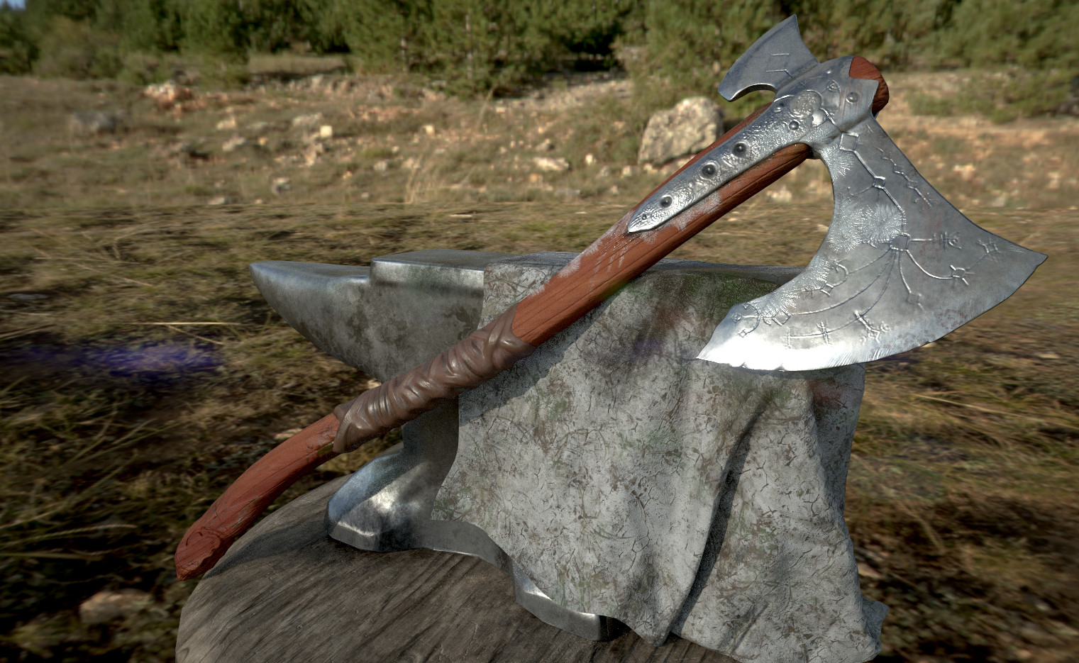 GOW Axe: Zbrush, Maya, Substance GOW axe