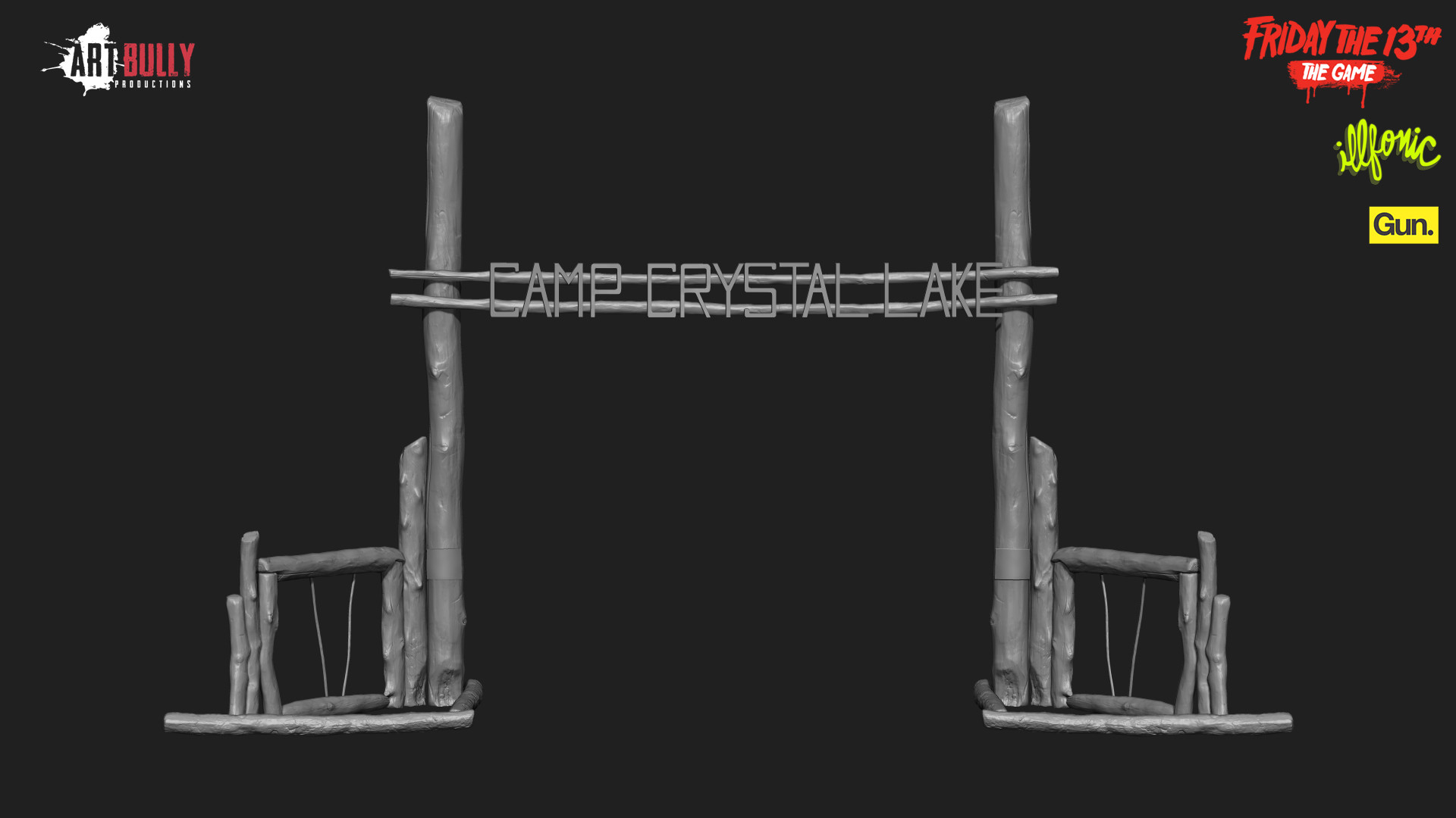 Friday the 13th: The Game - Camp Crystal Lake Sign - High Poly