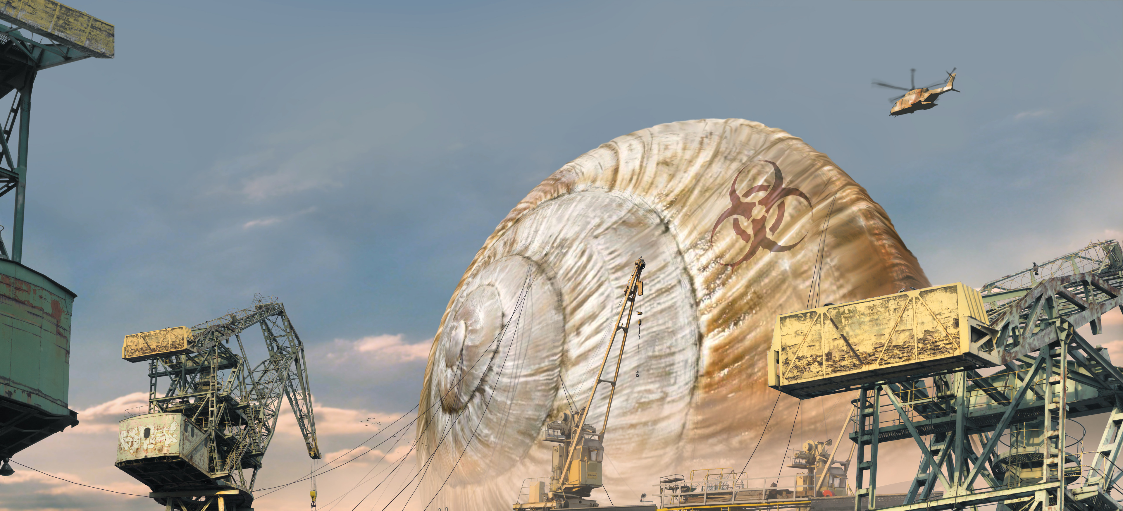 Giant snail shell at the port