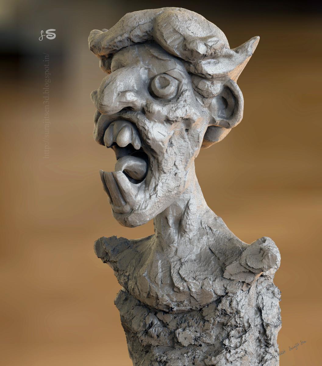 Surajit sen concept face sculpt surajitsen