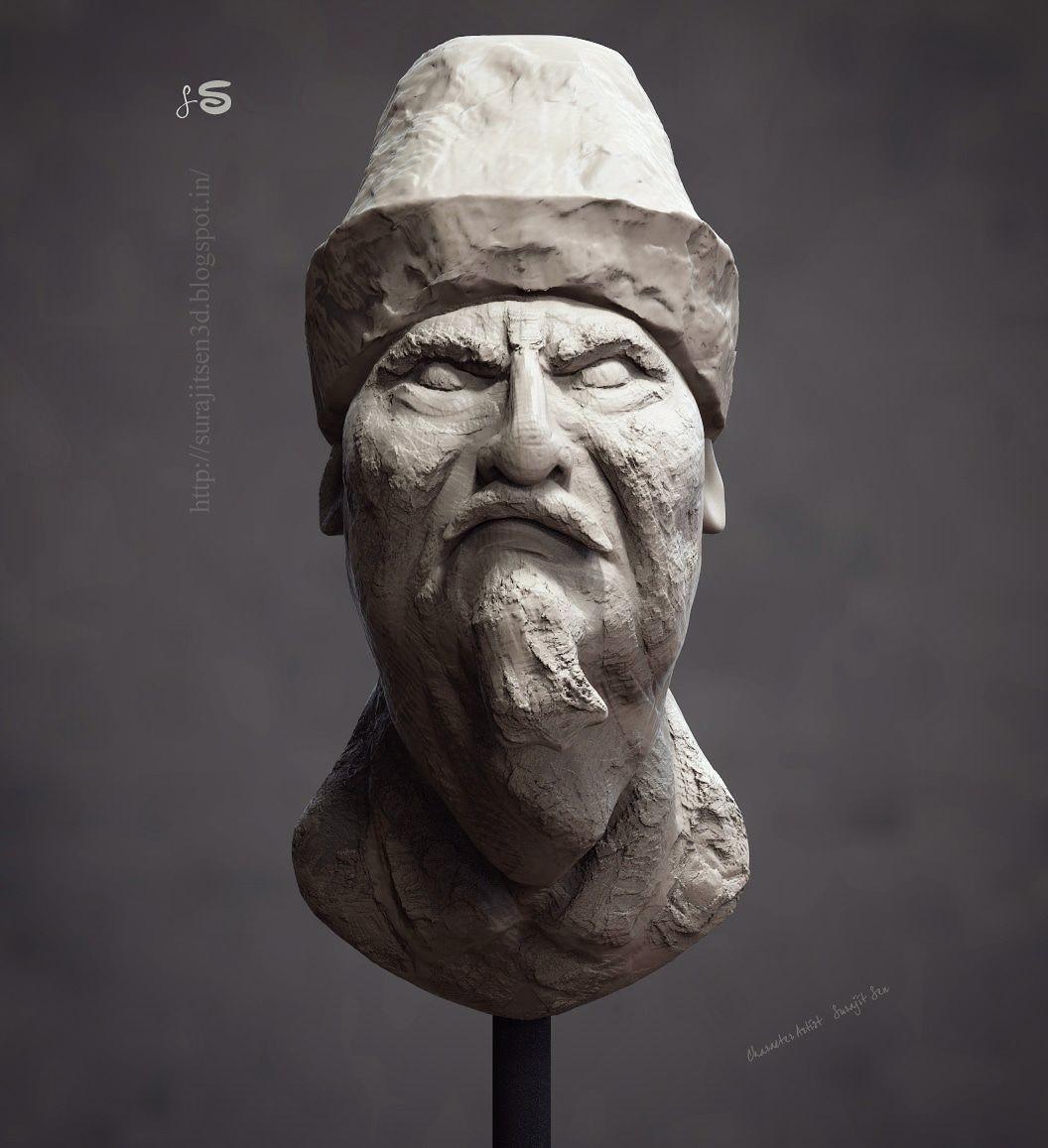 Surajit sen clay face aged man 25052018 insta