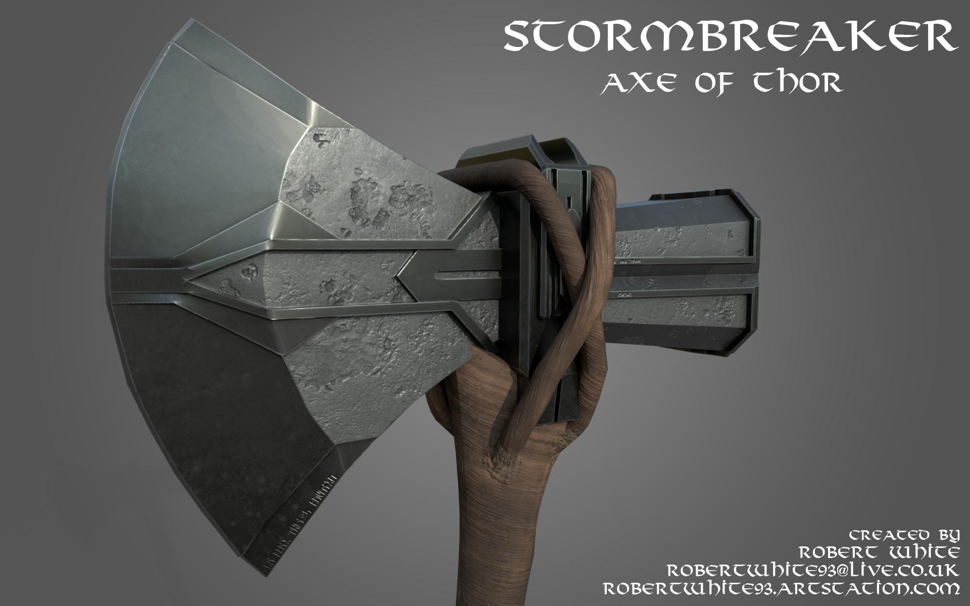 Artstation Stormbreaker The Axe Of Thor Robert White