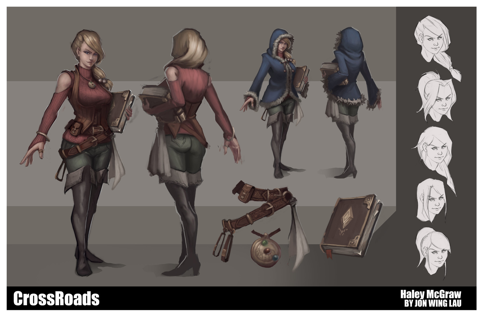 Haley - Character Design Sheet