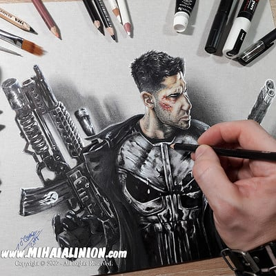 Mihai alin ion drawing the punisher marvel mihai alin ion post