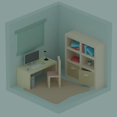 Jan golicnik simple room isometric