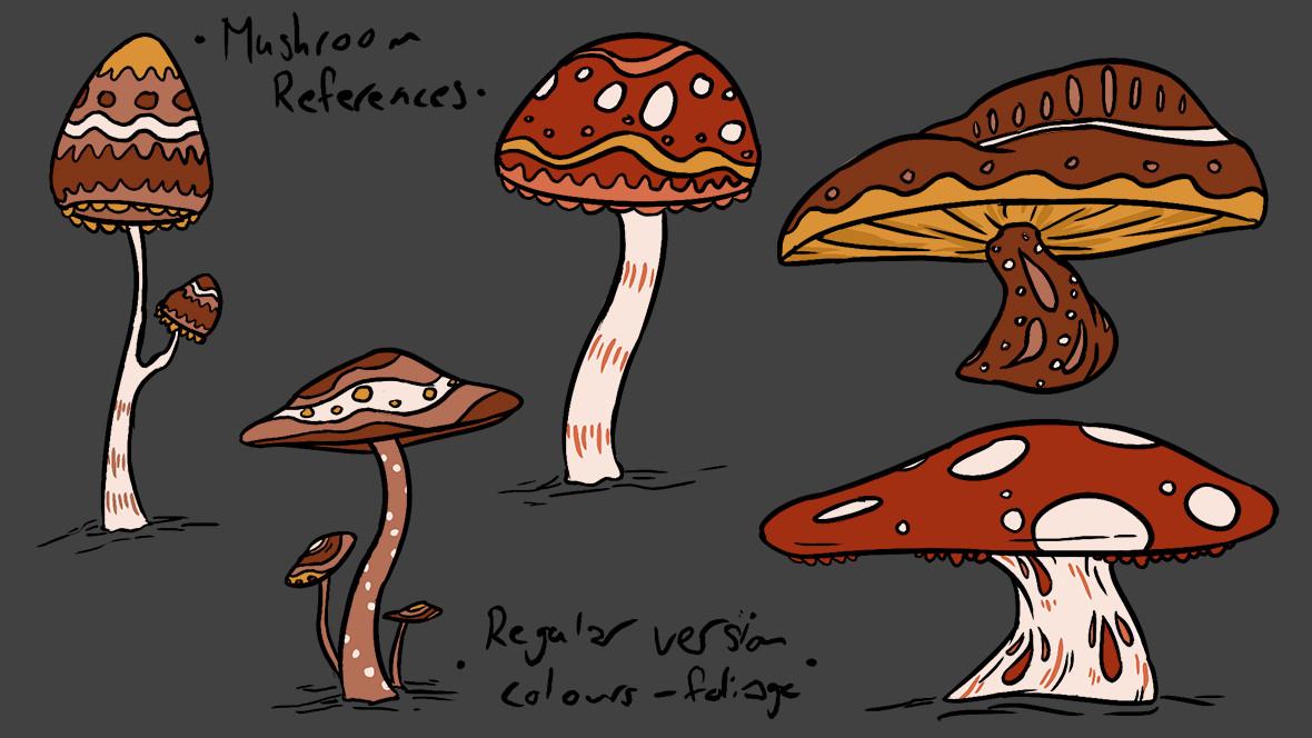 Mushroom Regular Colour Reference