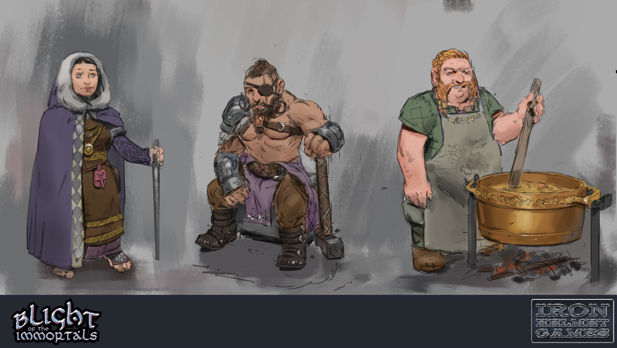 Dwarves - character explorations