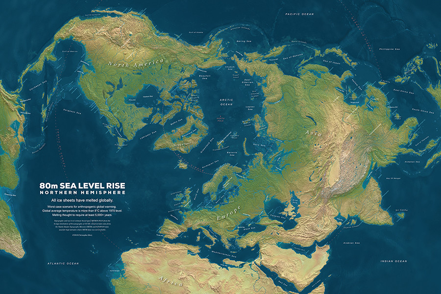 ArtStation - Sea Level Rise Maps, Christopher Bretz on world map arctic ocean, world map aegean sea, world map red sea, world map bering strait, world map iceland, world map ural mountains, world map barents sea, world map persian gulf, world map coral sea, world map bering sea, world map hudson bay, world map adriatic sea, world map caspian sea, world map black sea, world map arabian sea, world map norwegian sea, world map japan, world map english channel, world map baltic sea, world map pacific ocean,