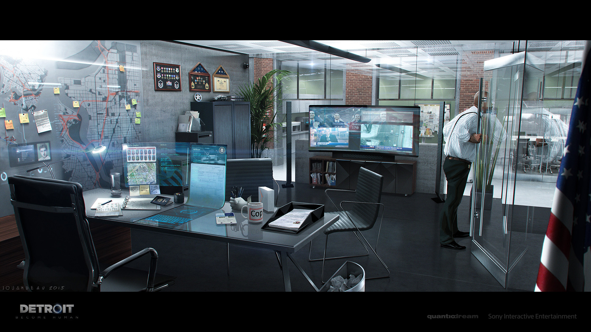 Artstation Detroit Become Human Police Station
