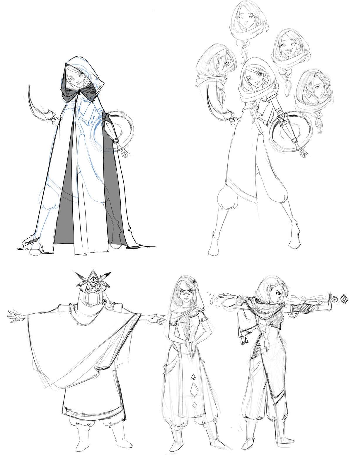 early concept art for 'Shabina' character