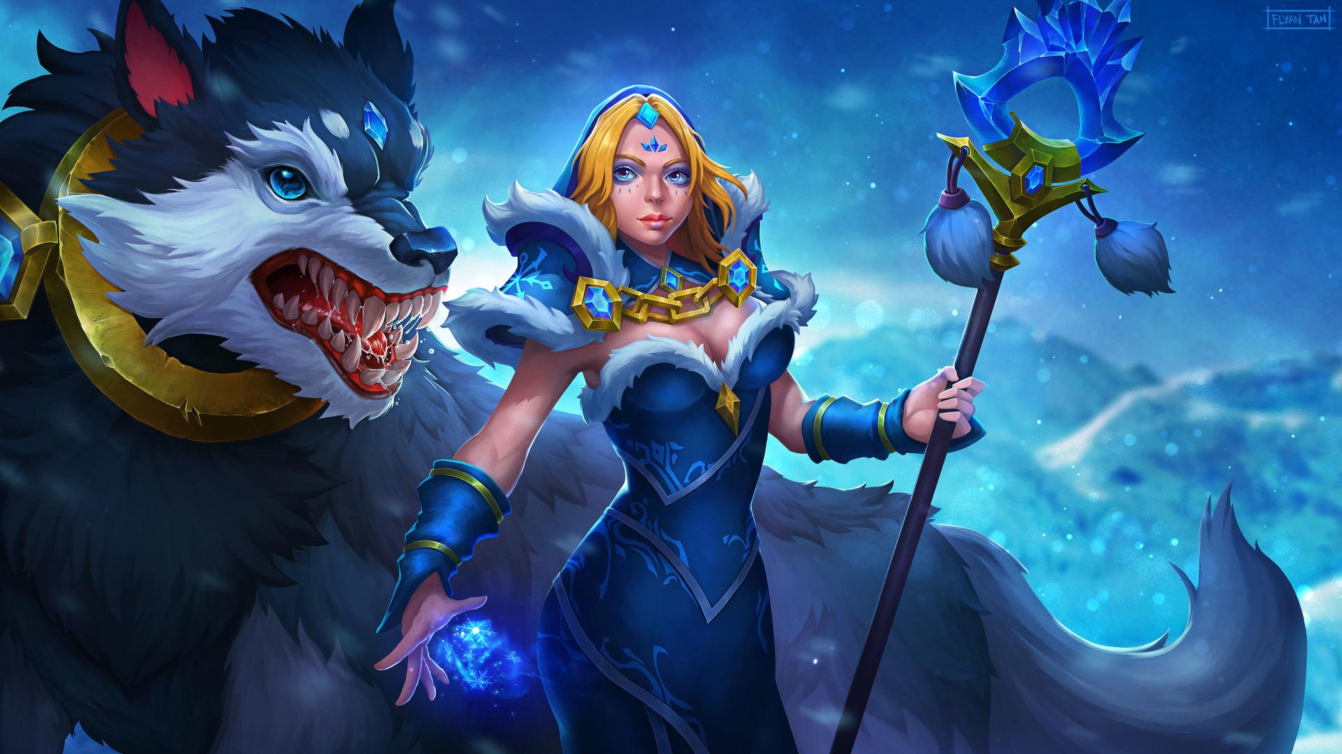 ArtStation - Dota 2 - Crystal Maiden Frost Avalanche, Flyan Tan
