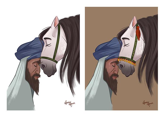 Lorena loguen abderraman illustration by lorena loguen 06