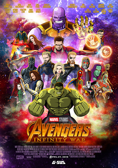 Artstation G Sus Art Avengers Infinity War Movie Poster Jesus Prado