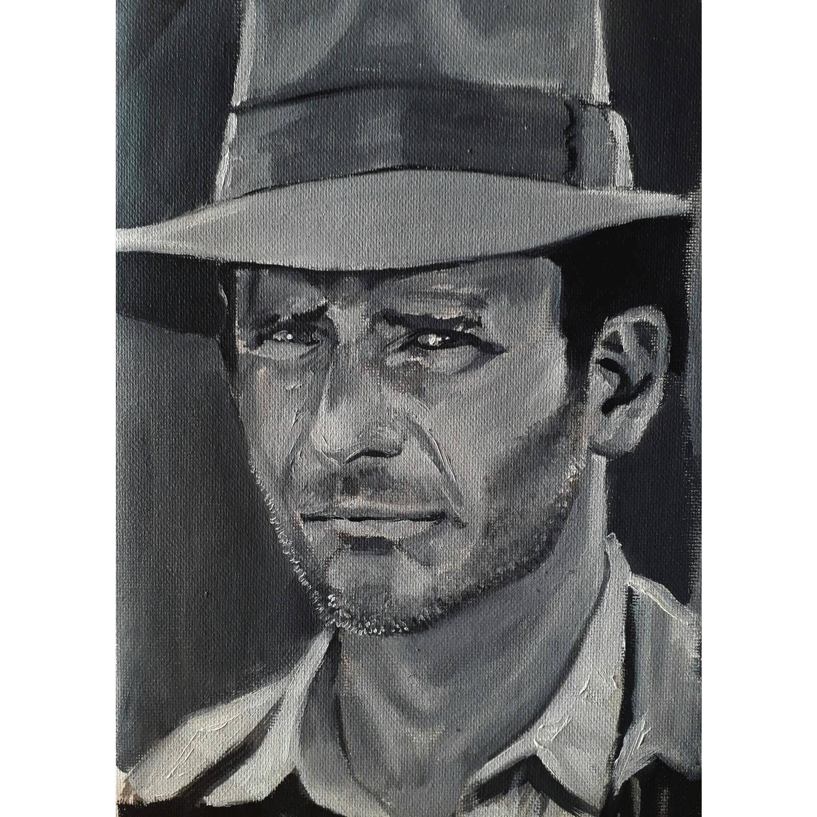 Oil on Canvas , Indiana Jones