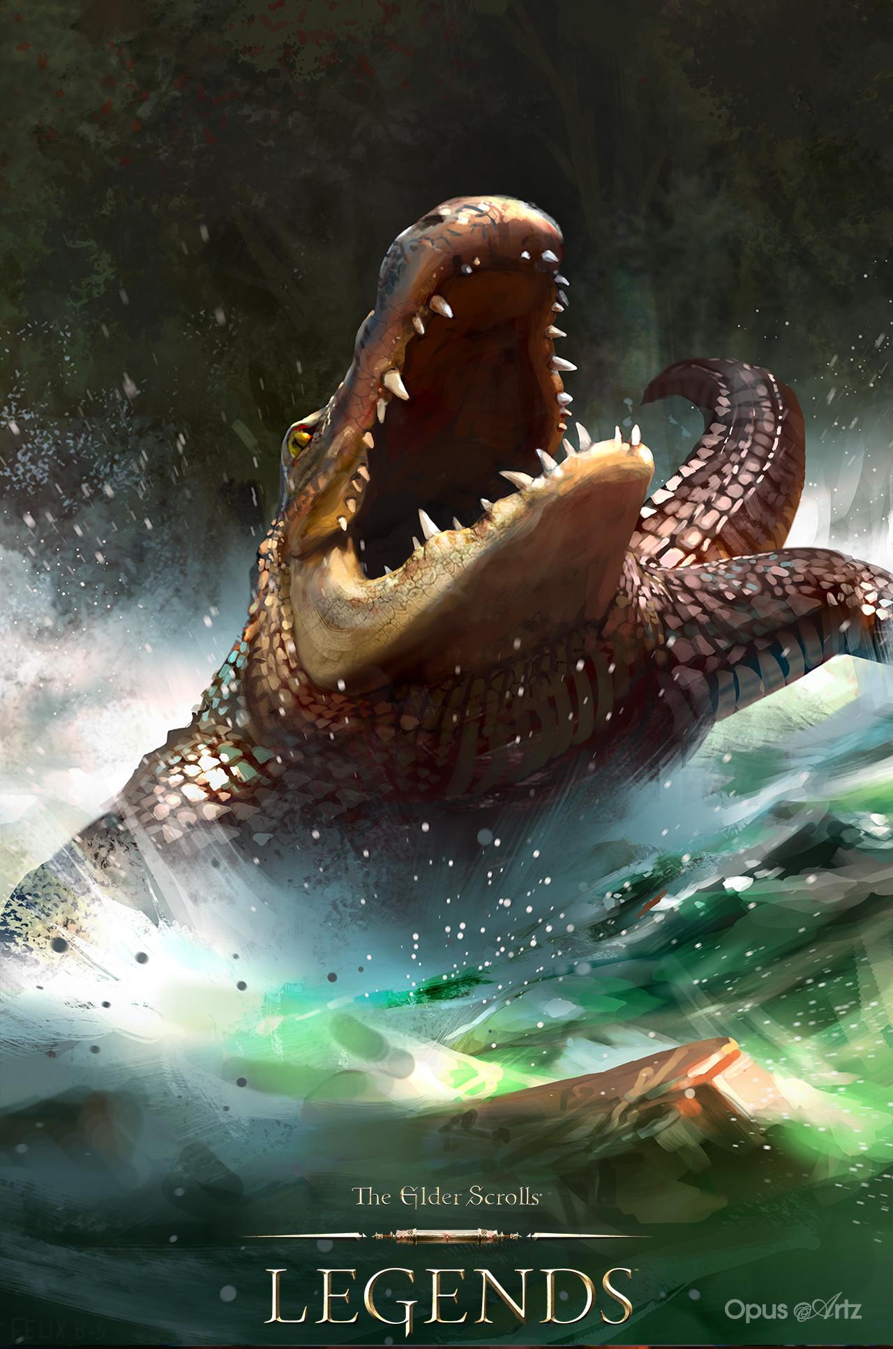 Opus artz tesl ravenous crocodile