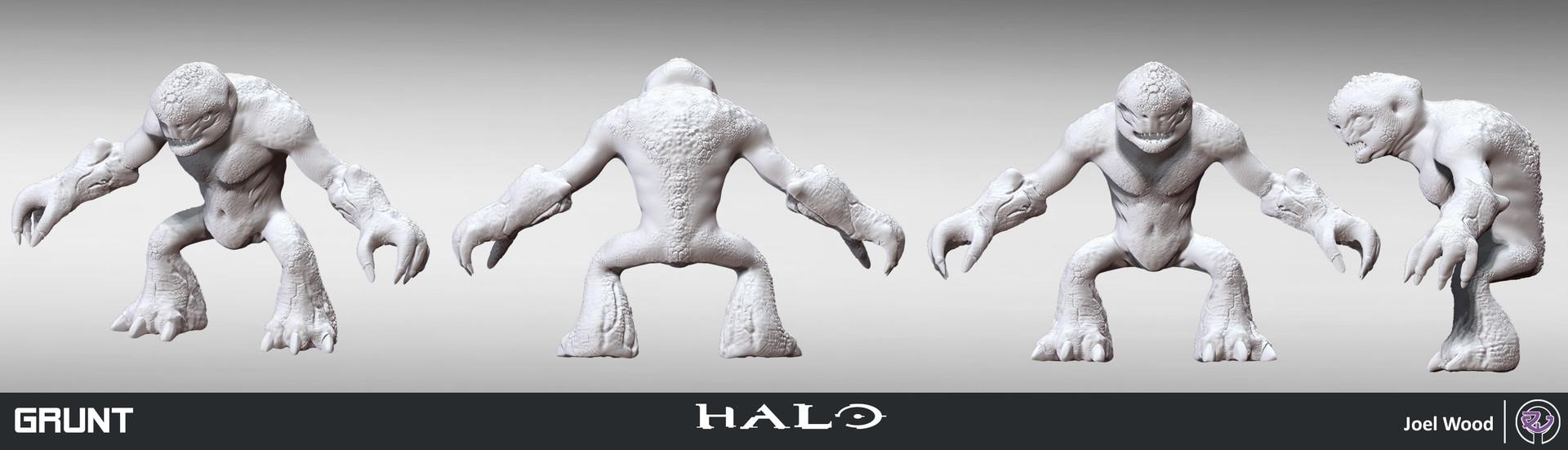 ArtStation - Halo Grunt Fan Art, Joel Wood