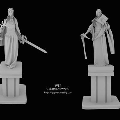 Gechunyi wang gechunyi wang statues turn table may 2018