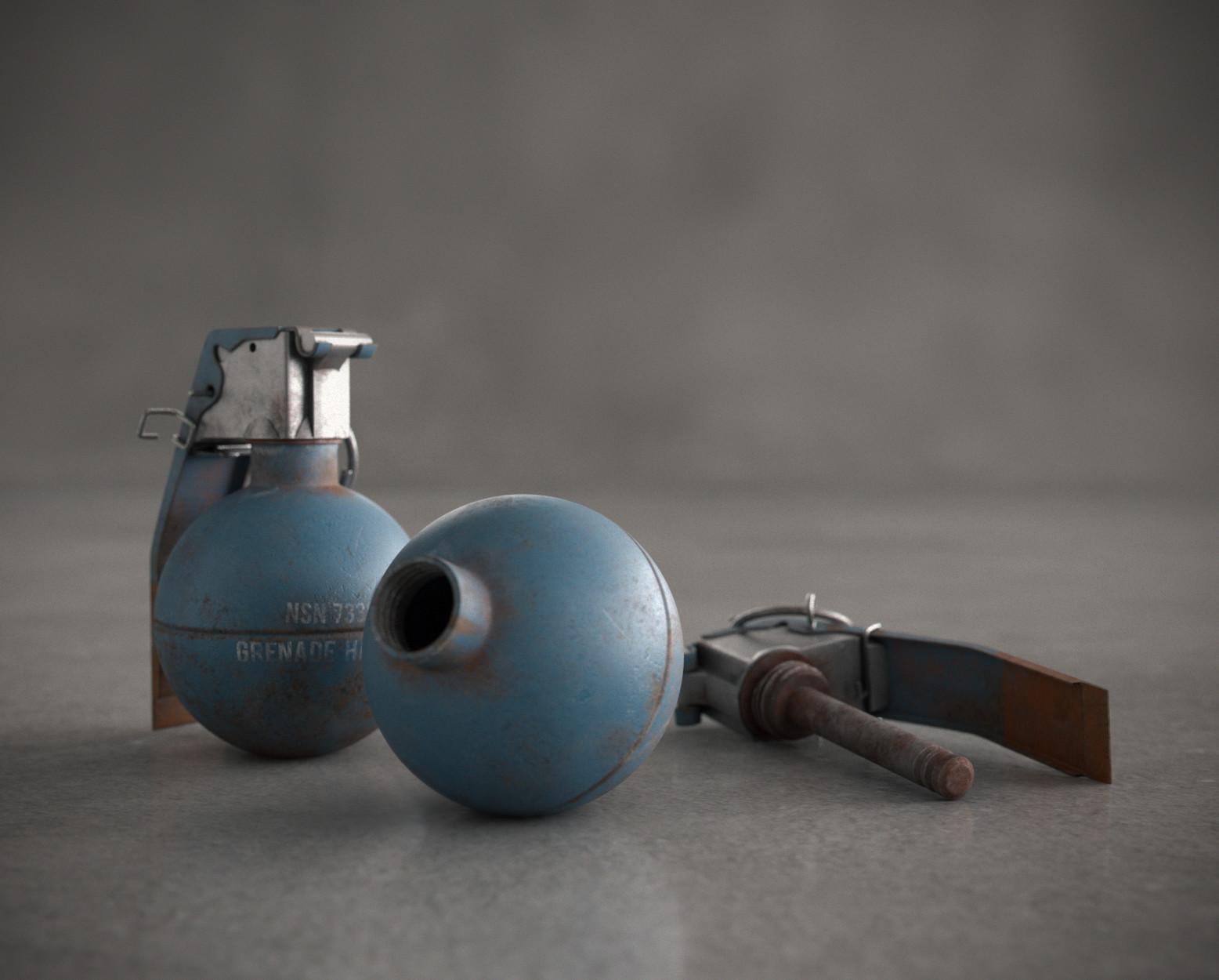 ArtStation - Grenade Hand Practice - M69 | Studies #01