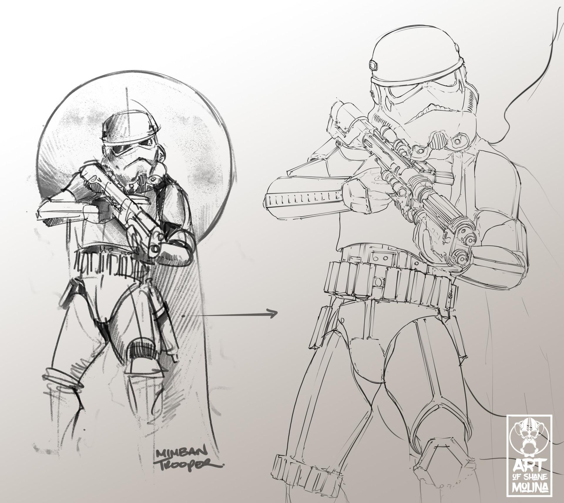 Shane molina mimban sketches