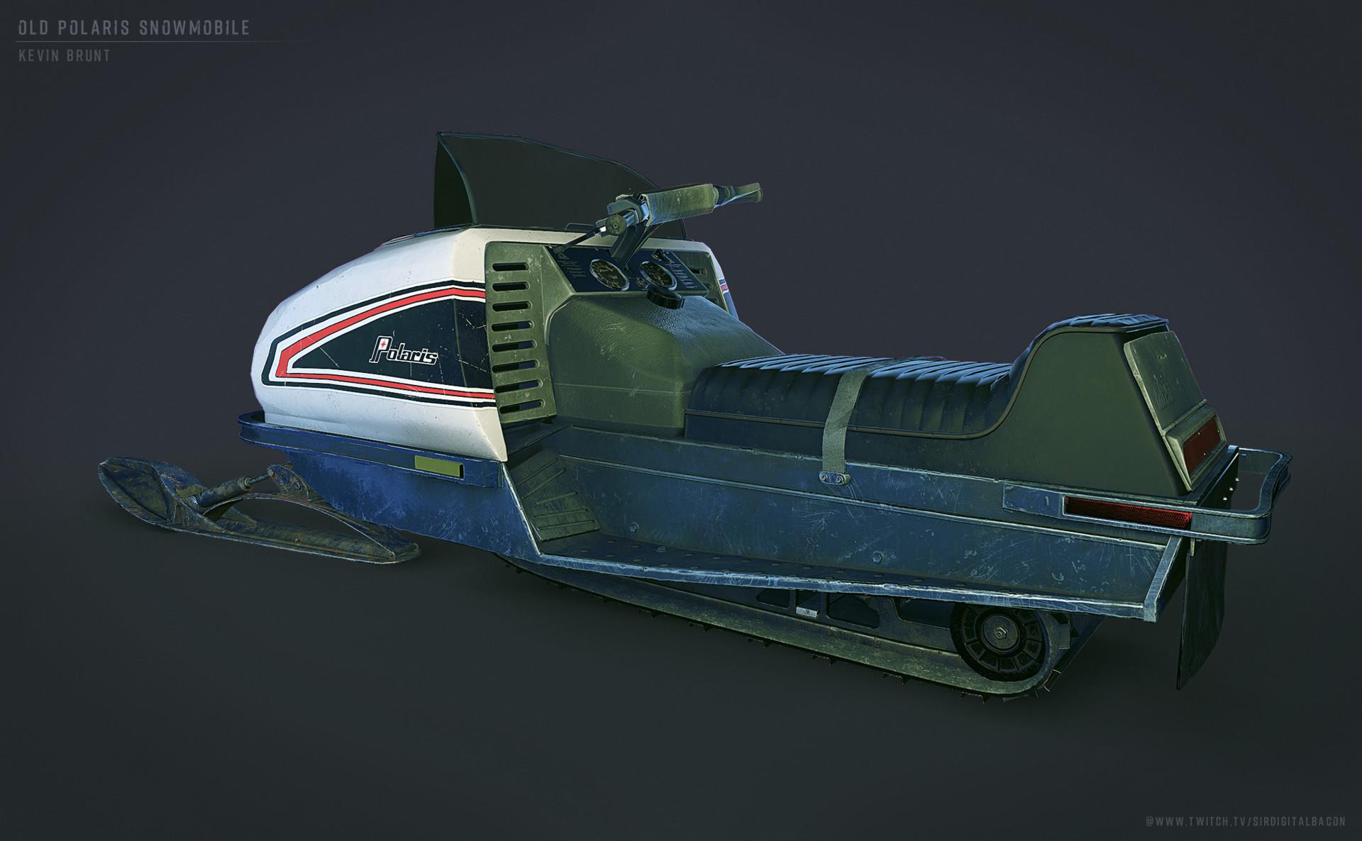 ArtStation - Old Snowmobile, Kevin Brunt