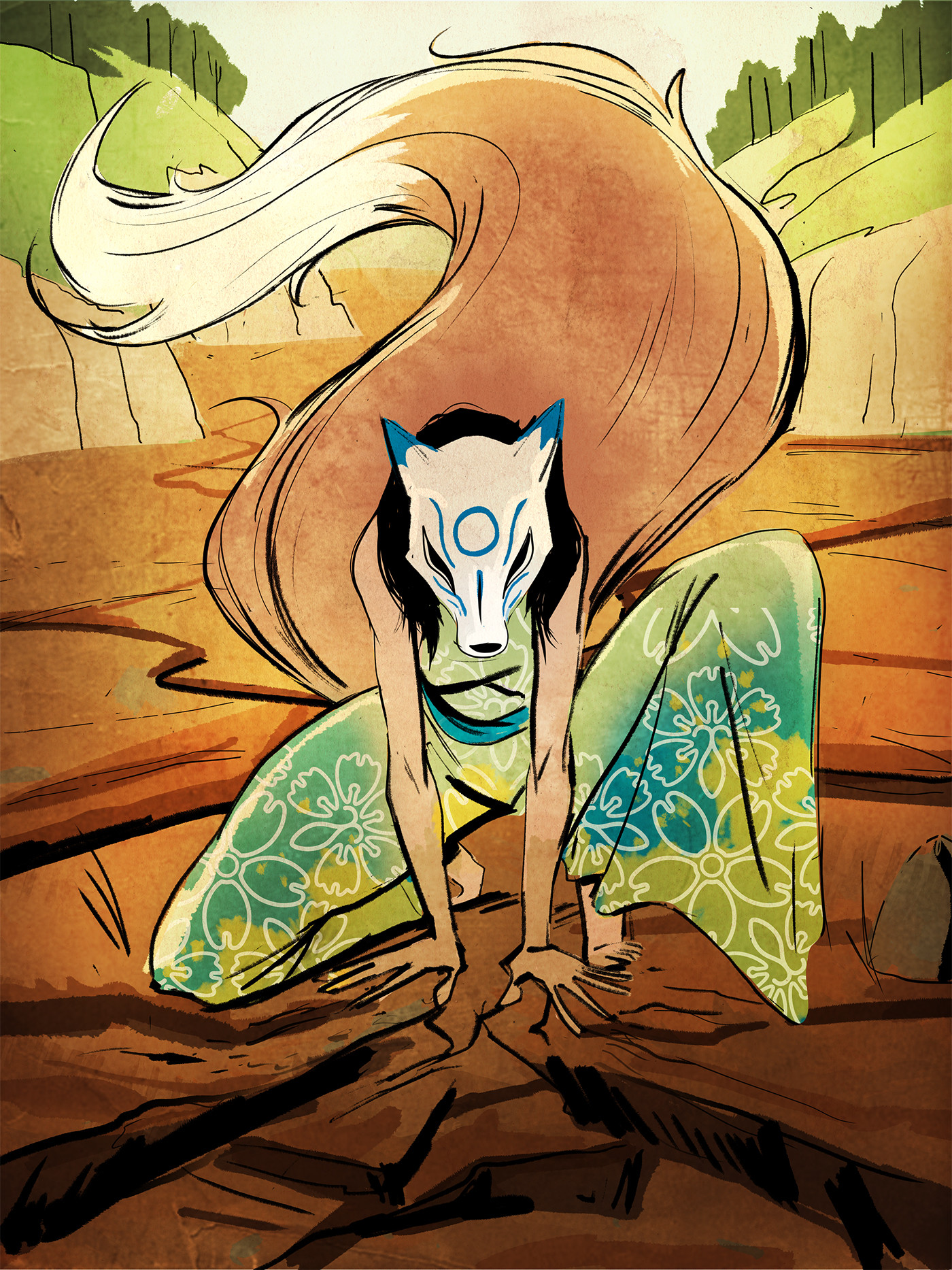 Lamaro smith jinja kitsune forest 0010 jinja kitsune earth