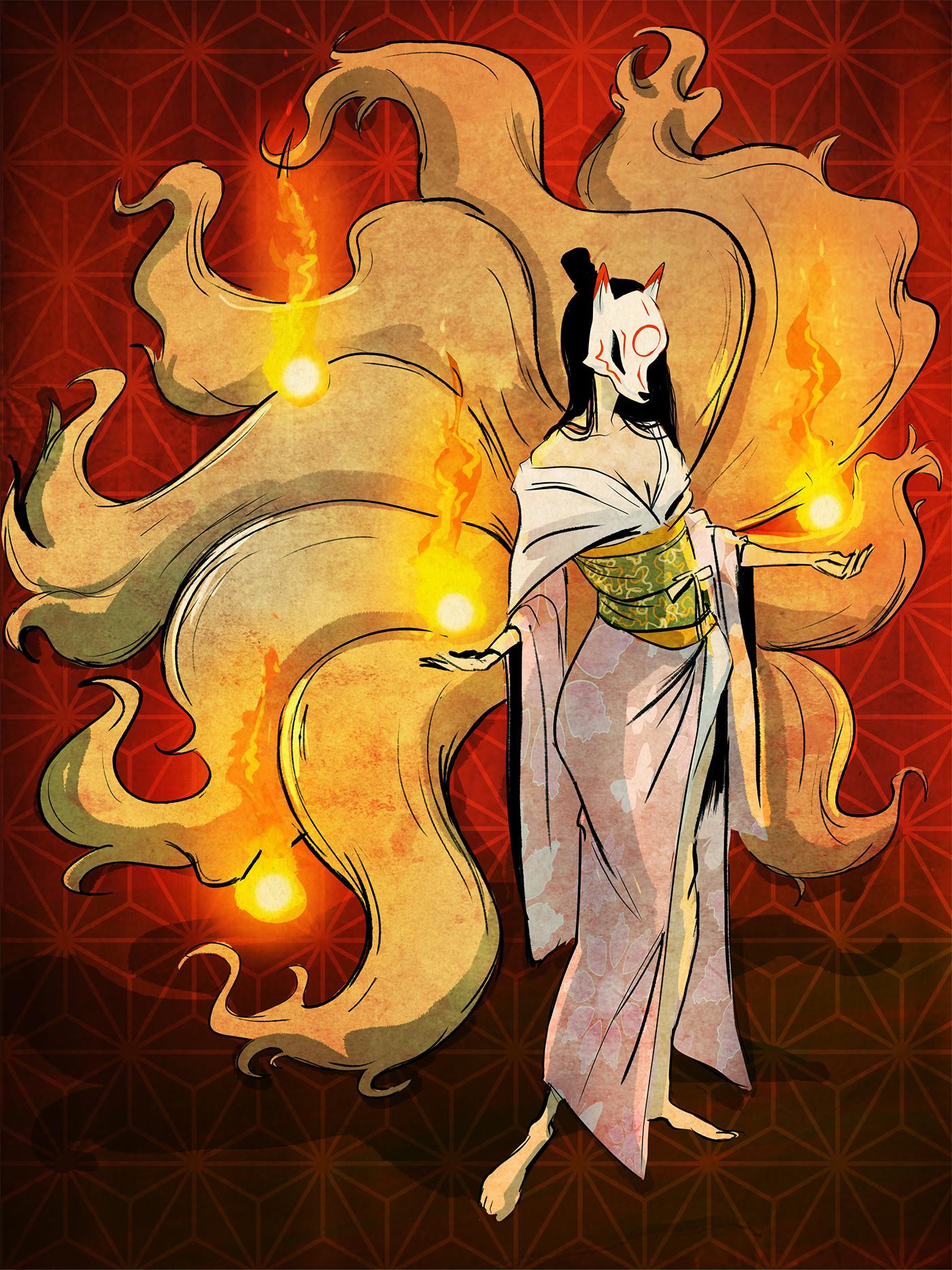 Lamaro smith jinja kitsune forest 0009 jinja kitsune fire