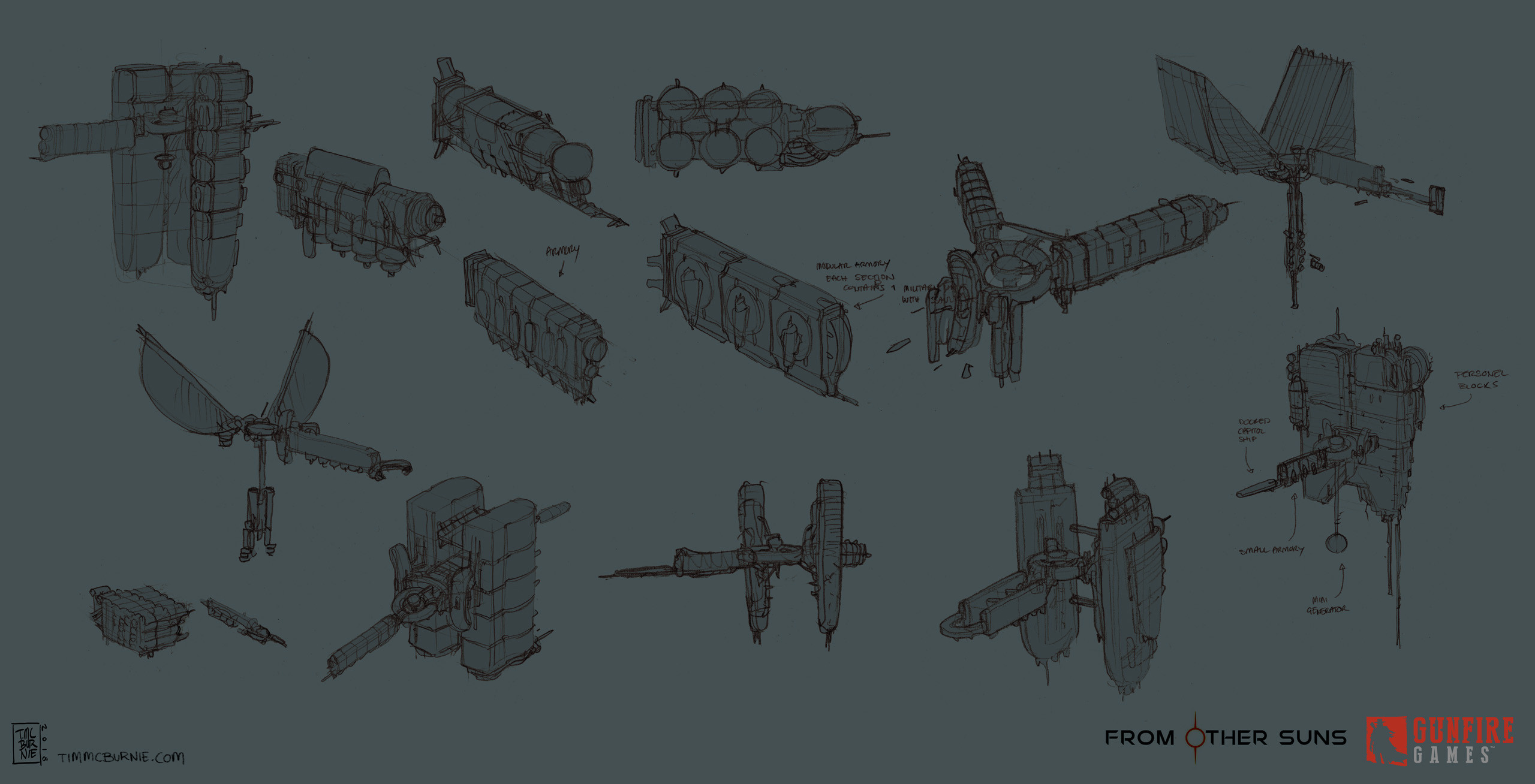 Space Station initial sketches