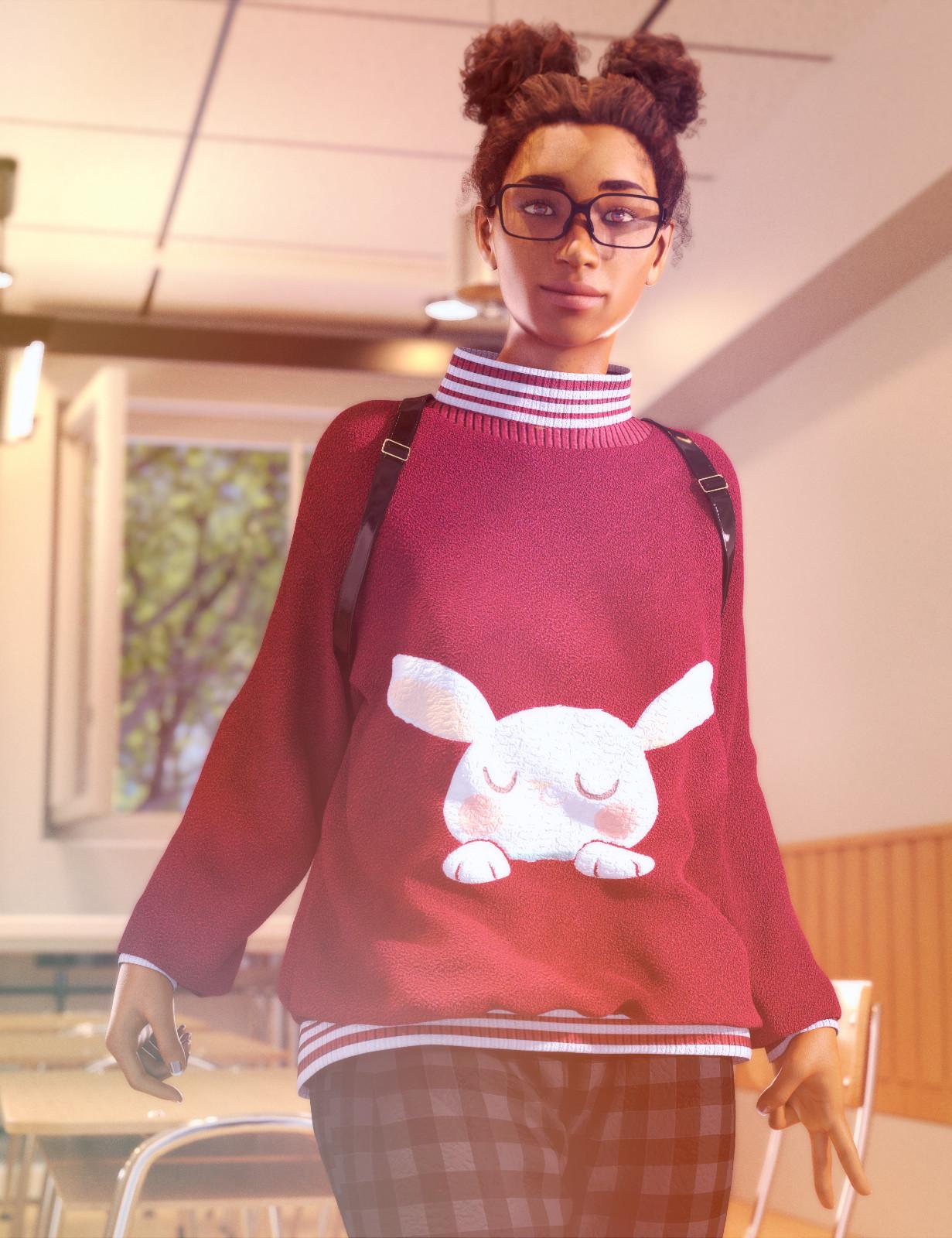 Nurys as a school girl