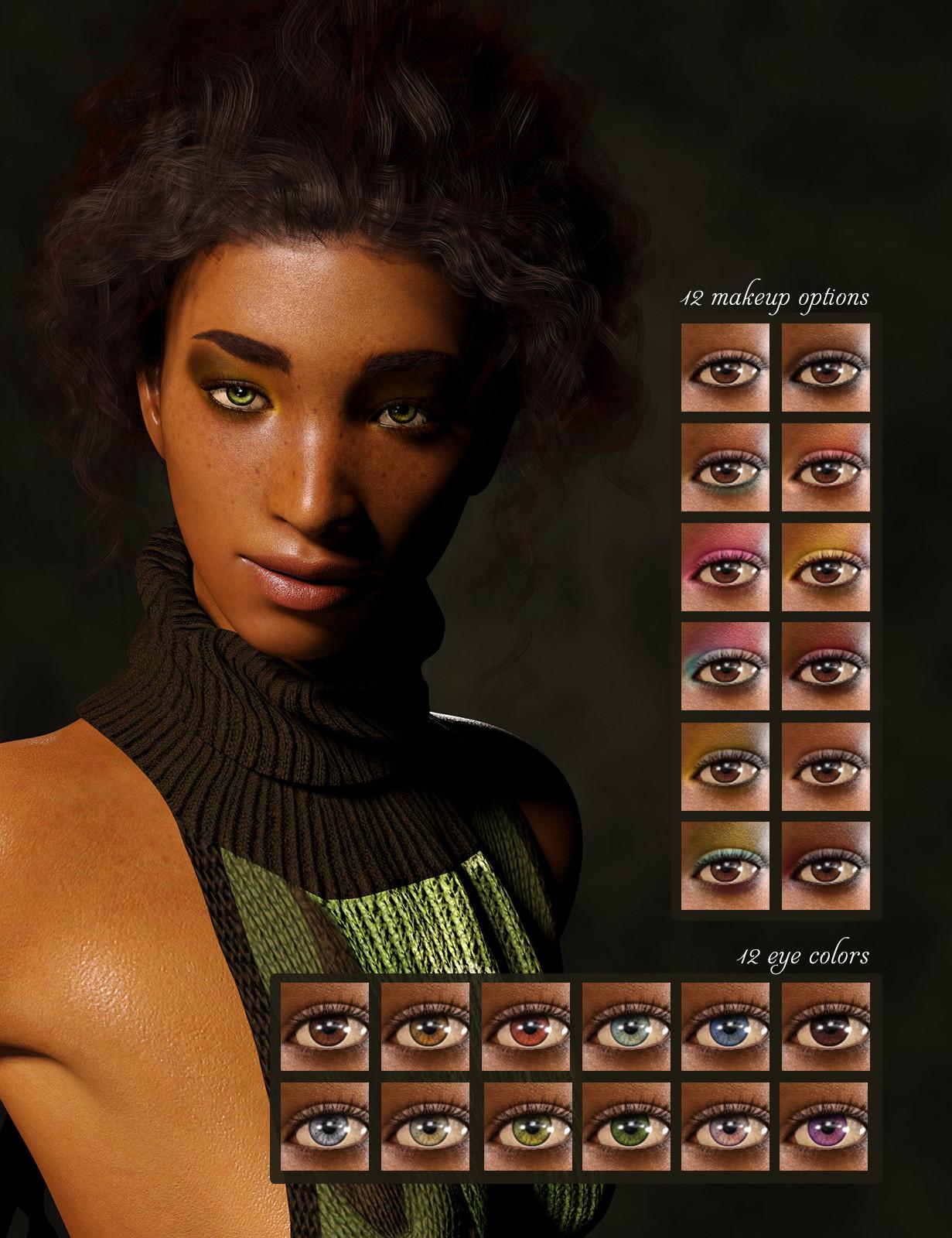 Eye colors & makeup options