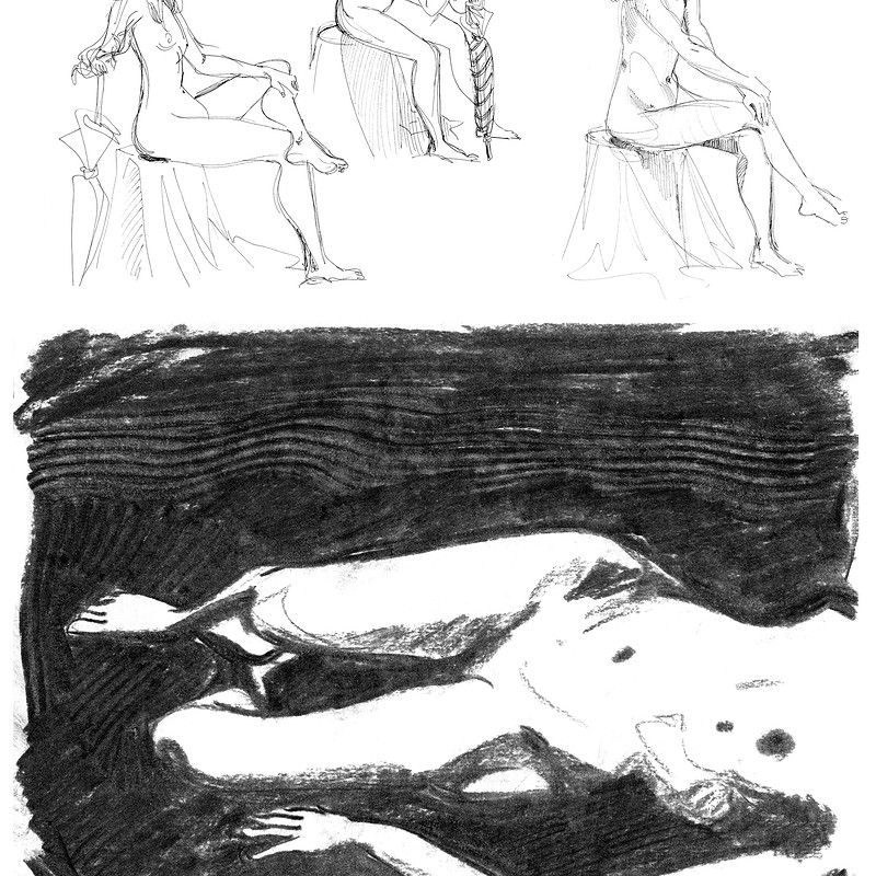 [Life Drawing] Charcoal