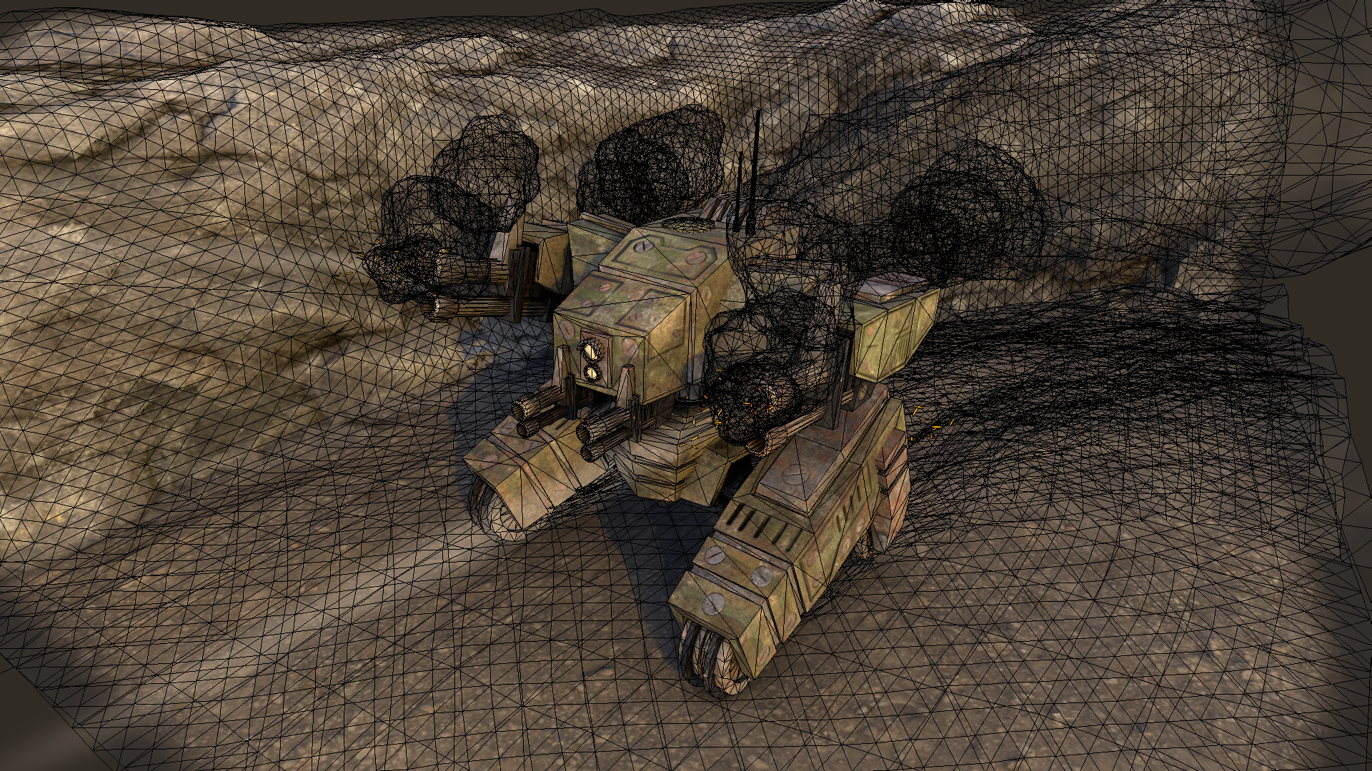 Ivan batalla sci fi war tank 4