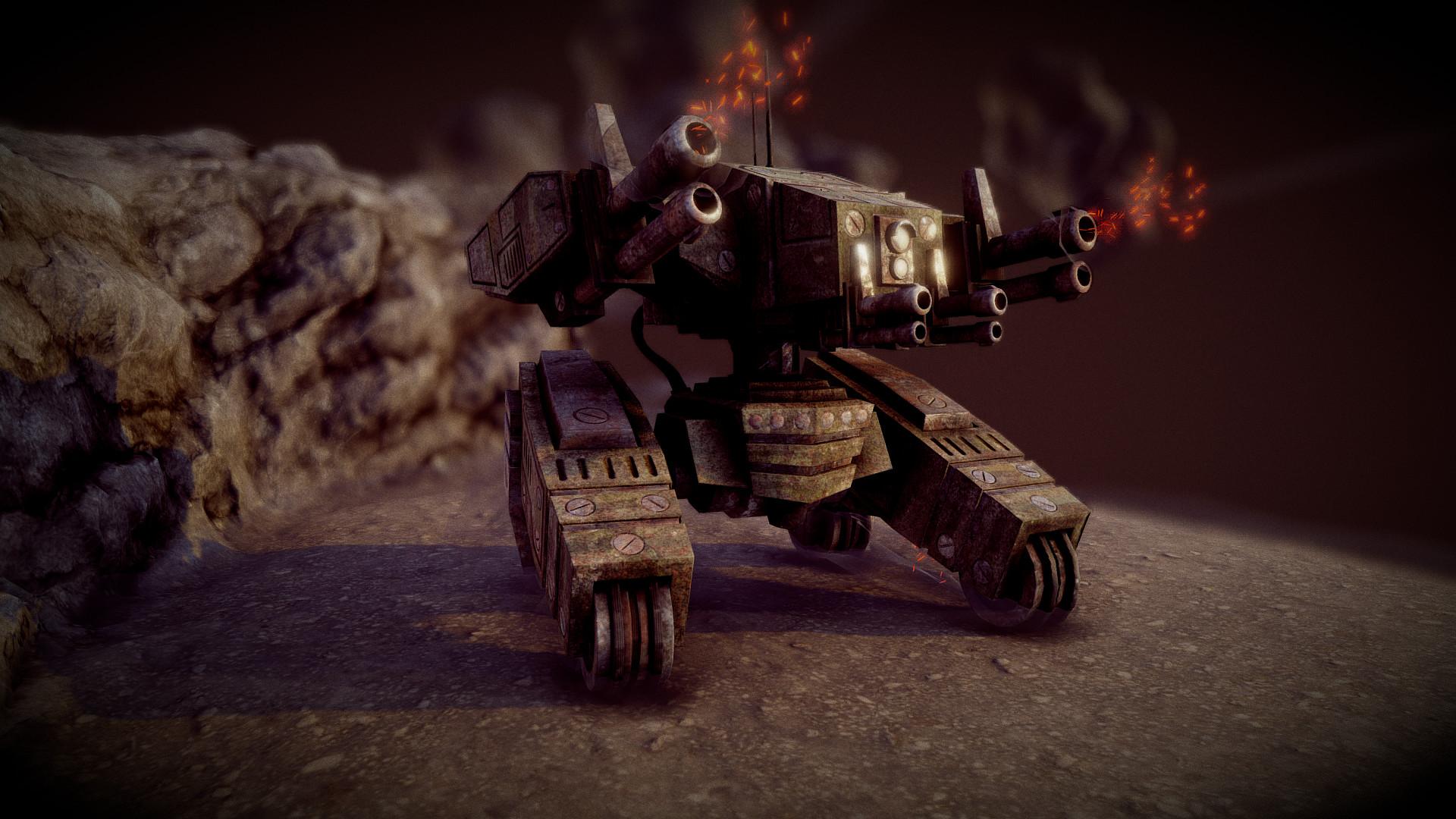 Ivan batalla sci fi war tank 1