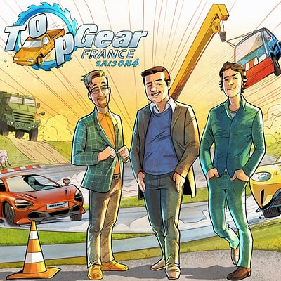 Serge fiedos top gear france season 4 fan art by serge fiedos