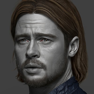 Brad Pitt - World war Z - Fan art