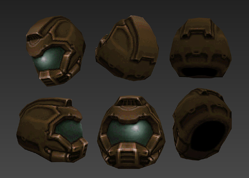 The base helmet before I did any variations. Oh and reduced to the Q1 palette