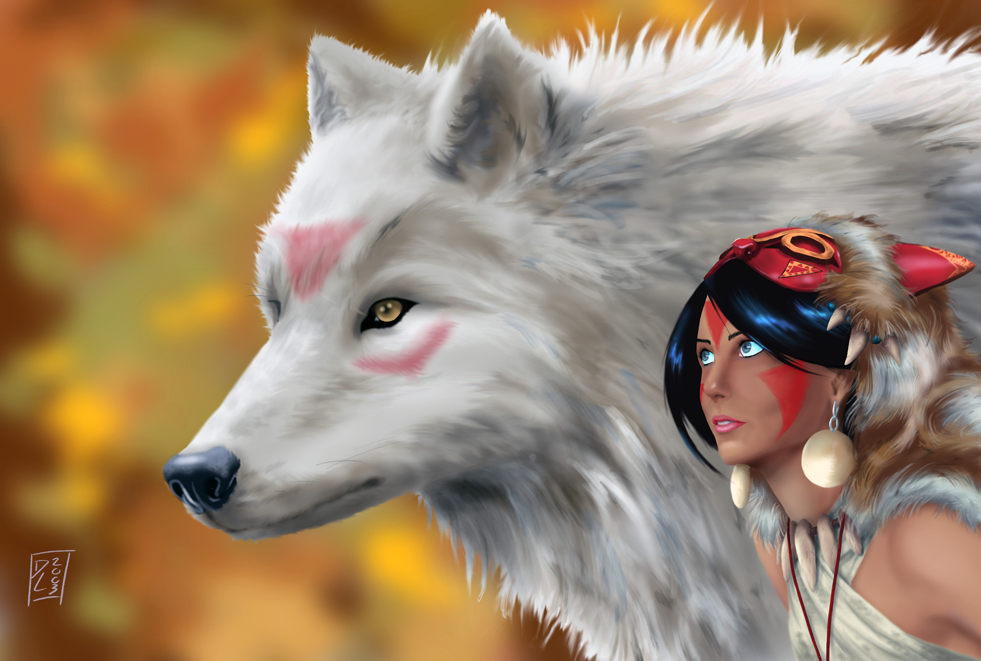princess mononoke wolf head