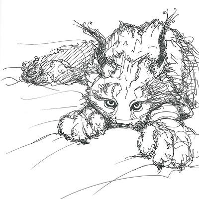 Gabriele crow lynx dragon by yade art d69bkg8