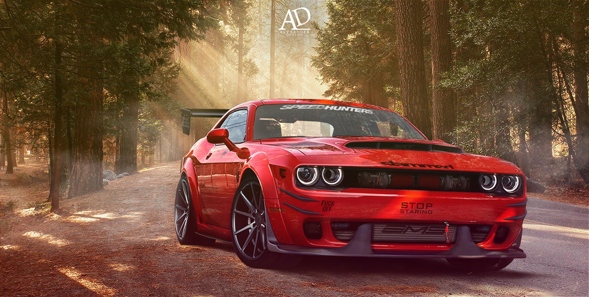 Artstation Red Agressive Dodge Demon Alexander Design