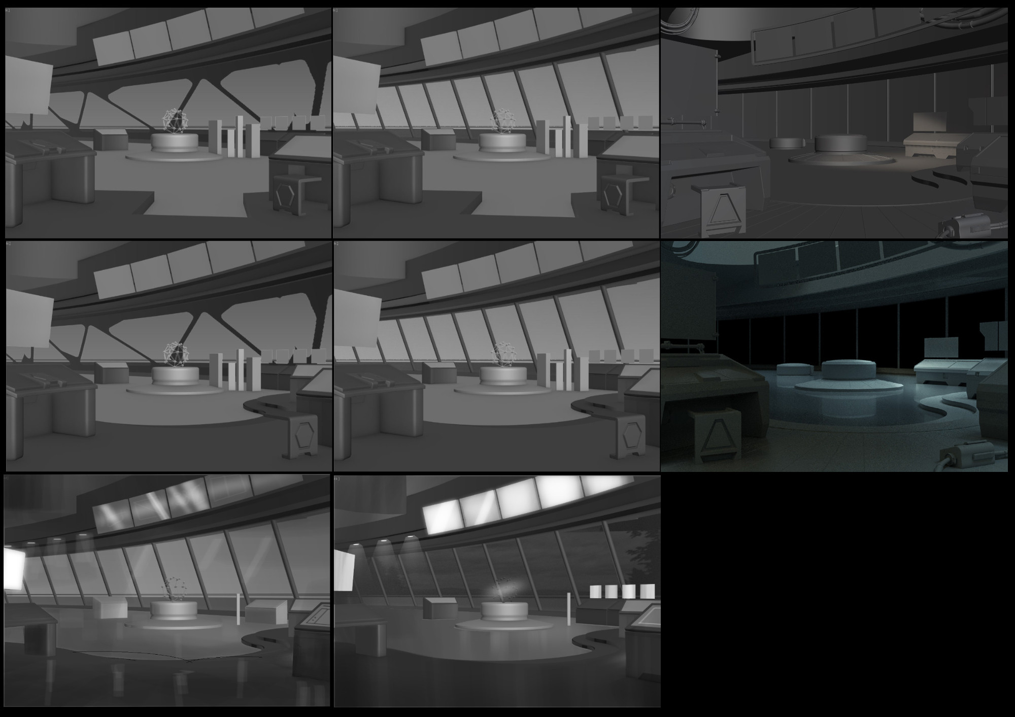 Interior blockout process