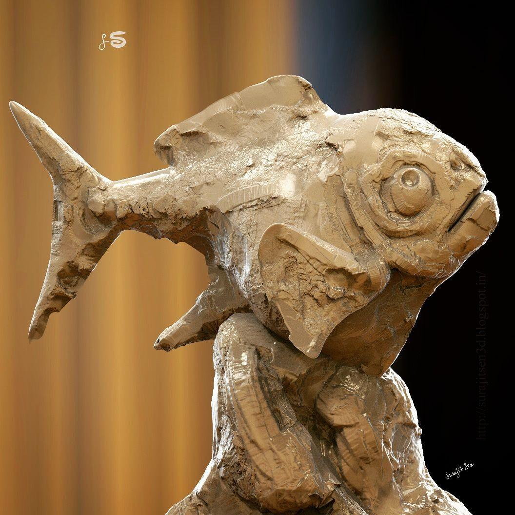 Surajit sen fish quick sculpt surajitsen insta