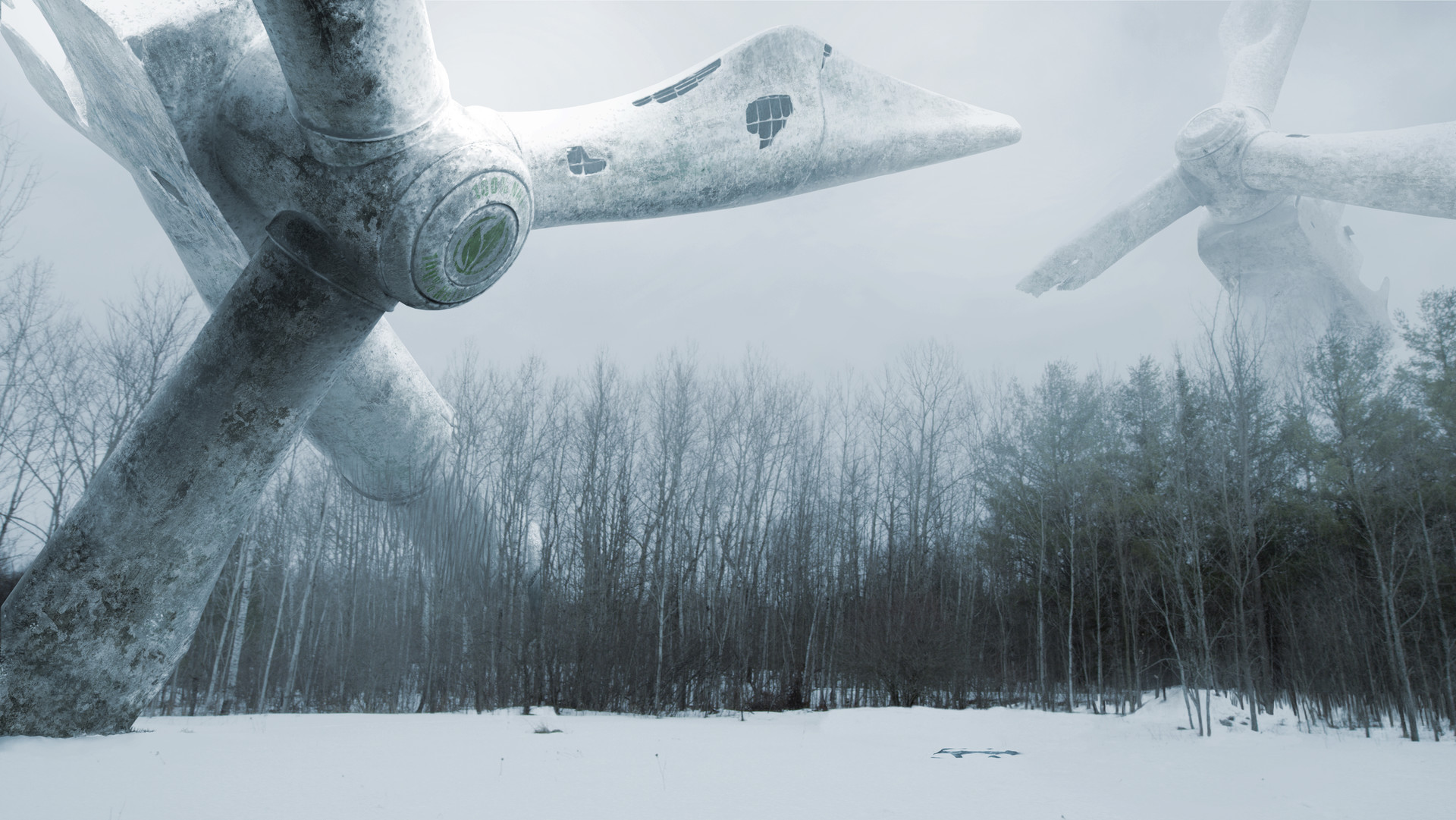 Matte Painting for my scifi short film EXT.