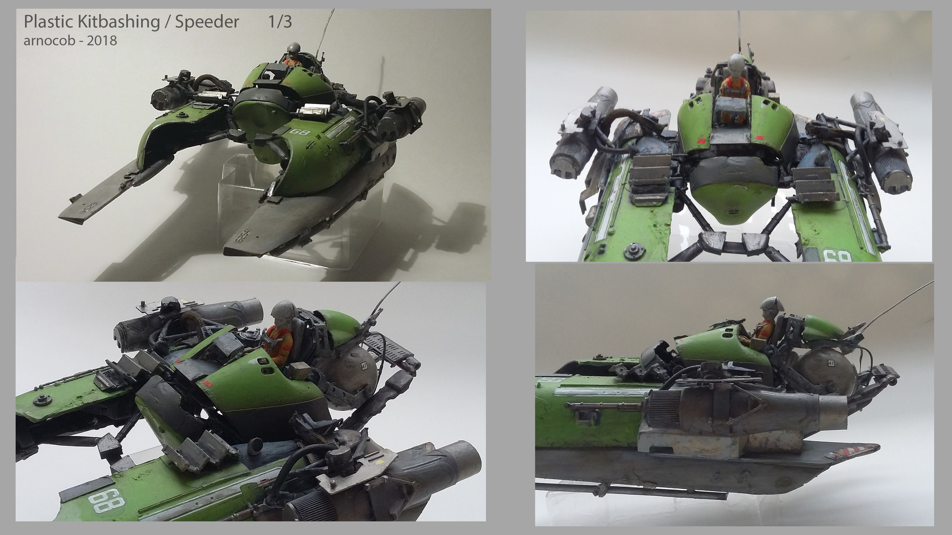 Arnaud caubel plastickitbashing speeder arnocob 01