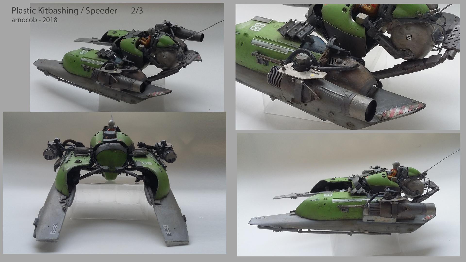 Arnaud caubel plastickitbashing speeder arnocob 02