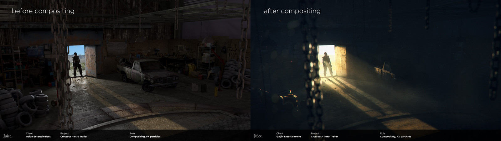 Before and after compositing