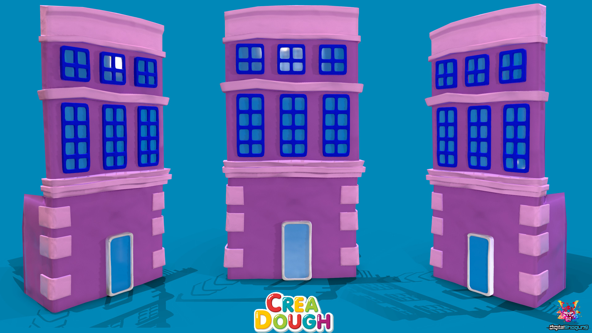 Martin giles small pink building